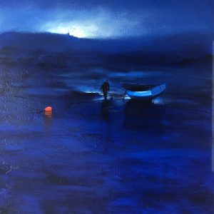 Blue painting Denis Lebecq