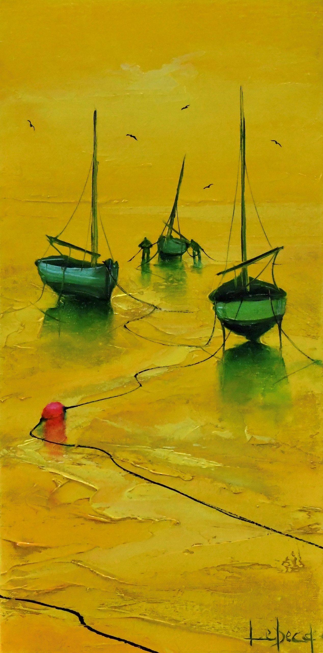 Denis Lebecq Artiste peintre pont-aven jaune