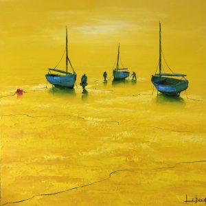 Yellow marine denis lebecq painting