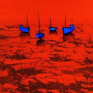Rouge marine de l'artiste peinte de pont aven denis lebecq