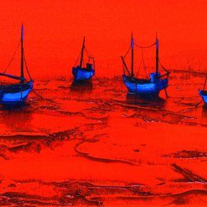 Red marine denis lebecq painting